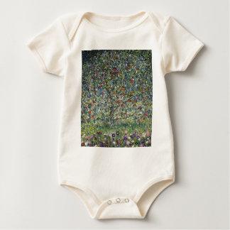 Gustav Klimt - Apple Tree Painting Baby Bodysuit