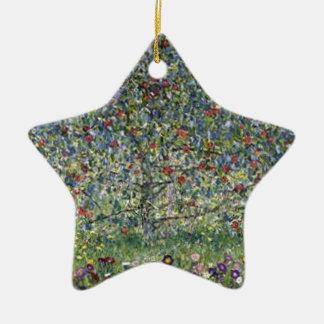 Gustav Klimt - Apple Tree Painting Ceramic Ornament