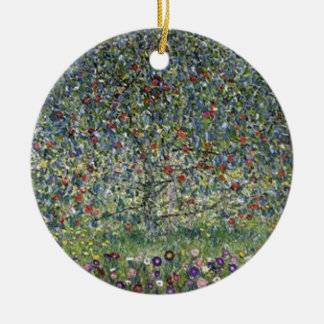 Gustav Klimt - Apple Tree Painting Ceramic Ornament