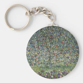 Gustav Klimt - Apple Tree Painting Keychain