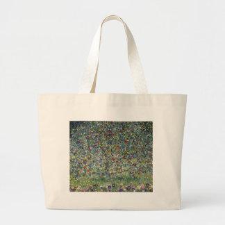 Gustav Klimt - Apple Tree Painting Large Tote Bag