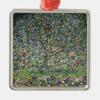 Gustav Klimt - Apple Tree Painting Metal Ornament