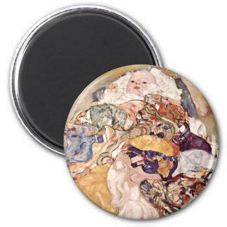 Gustav Klimt ~ Baby 2 Inch Round Magnet