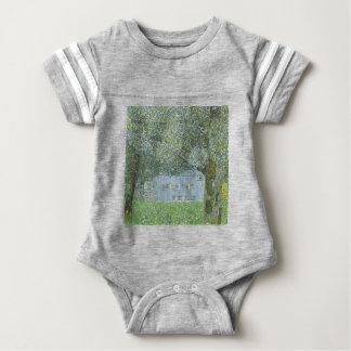 Gustav Klimt - Bauerhaus in Buchberg Painting Baby Bodysuit
