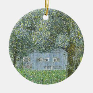 Gustav Klimt - Bauerhaus in Buchberg Painting Ceramic Ornament