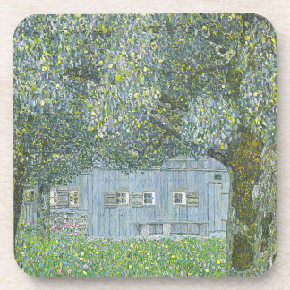Gustav Klimt - Bauerhaus in Buchberg Painting Coaster