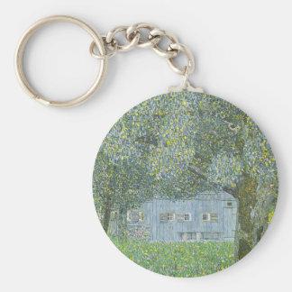 Gustav Klimt - Bauerhaus in Buchberg Painting Keychain