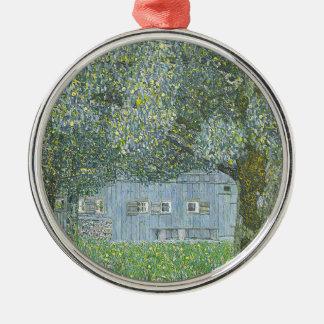 Gustav Klimt - Bauerhaus in Buchberg Painting Metal Ornament