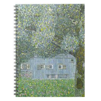 Gustav Klimt - Bauerhaus in Buchberg Painting Spiral Notebook