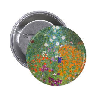 Gustav Klimt Bauerngarten Farm Garden Pinback Button