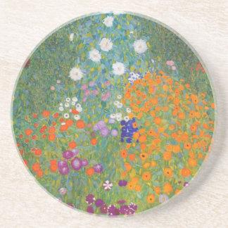 Gustav Klimt // Bauerngarten // Farm Garden Coaster