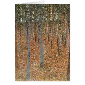 Gustav Klimt- Beech Grove I Card