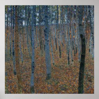 Gustav Klimt Beech Grove I Poster
