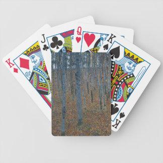 Gustav Klimt - Beech Grove. Trees Nature Wildlife Bicycle Playing Cards