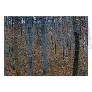 Gustav Klimt - Beech Grove. Trees Nature Wildlife Card