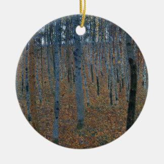 Gustav Klimt - Beech Grove. Trees Nature Wildlife Ceramic Ornament