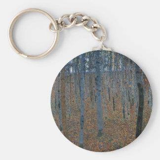 Gustav Klimt - Beech Grove. Trees Nature Wildlife Keychain