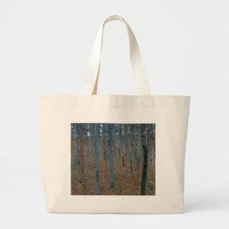 Gustav Klimt - Beech Grove. Trees Nature Wildlife Large Tote Bag