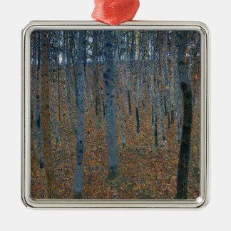 Gustav Klimt - Beech Grove. Trees Nature Wildlife Metal Ornament