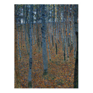 Gustav Klimt - Beech Grove. Trees Nature Wildlife Postcard