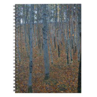 Gustav Klimt - Beech Grove. Trees Nature Wildlife Spiral Notebook