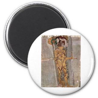 Gustav Klimt ~ Beethovenfries 2 Inch Round Magnet