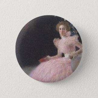 Gustav Klimt - Bildnis Sonja Knips Portrait 2 Inch Round Button
