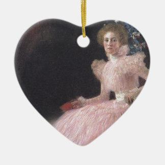 Gustav Klimt - Bildnis Sonja Knips Portrait Ceramic Ornament
