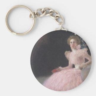 Gustav Klimt - Bildnis Sonja Knips Portrait Keychain