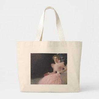 Gustav Klimt - Bildnis Sonja Knips Portrait Large Tote Bag