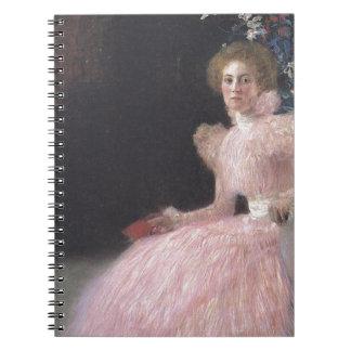 Gustav Klimt - Bildnis Sonja Knips Portrait Notebooks
