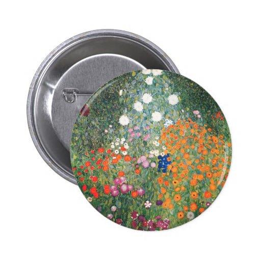 Gustav Klimt Blumengarten Pin
