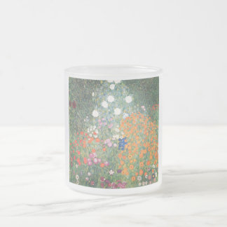 Gustav Klimt Blumengarten Frosted Glass Coffee Mug