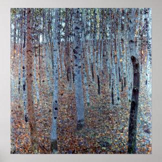 Gustav Klimt Buchenwald Beech Forest Poster