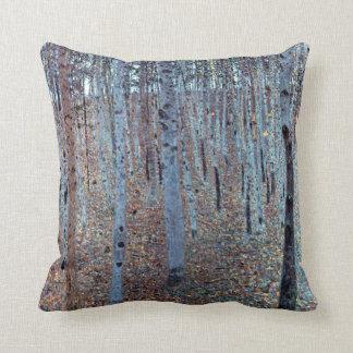 Gustav Klimt Buchenwald Beech Forest Throw Pillow