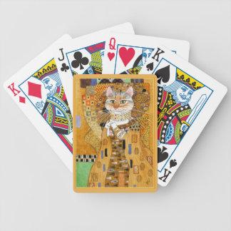 Gustav Klimt Cat in Gold spoof cards