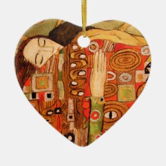 Gustav Klimt Ceramic Heart Ornament