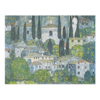 Gustav Klimt- Chruch in Cassone Postcard