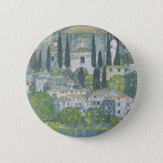 Gustav Klimt - Church in Cassone Art work 2 Inch Round Button