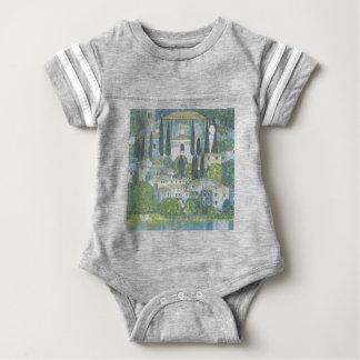 Gustav Klimt - Church in Cassone Art work Baby Bodysuit