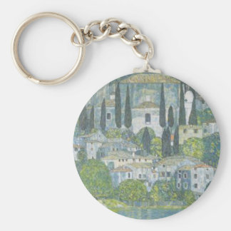 Gustav Klimt - Church in Cassone Art work Keychain