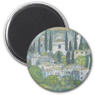 Gustav Klimt - Church in Cassone Art work Magnet