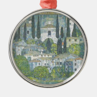 Gustav Klimt - Church in Cassone Art work Metal Ornament