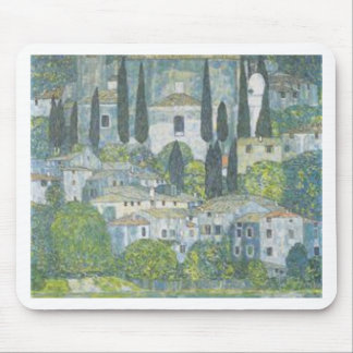 Gustav Klimt - Church in Cassone Art work Mouse Pad