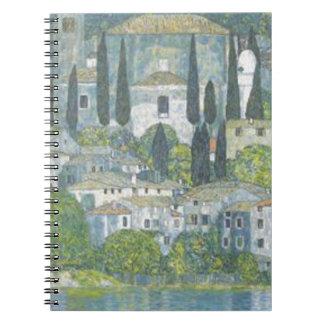 Gustav Klimt - Church in Cassone Art work Notebook