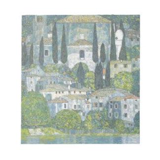 Gustav Klimt - Church in Cassone Art work Notepad