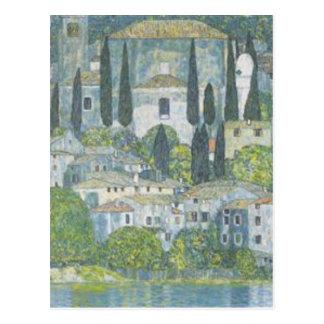 Gustav Klimt - Church in Cassone Art work Postcard