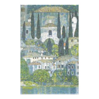 Gustav Klimt - Church in Cassone Art work Stationery