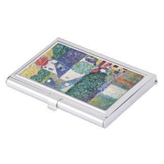 "Gustav Klimt, ""Church in Unterach at the Atter"" Business Card Holder"