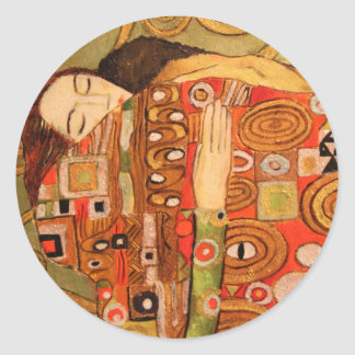 Gustav Klimt Classic Round Sticker